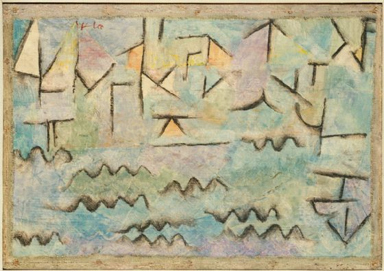 Klee, Paul: The Rhine at Duisburg. Fine Art Print/Poster (4998)